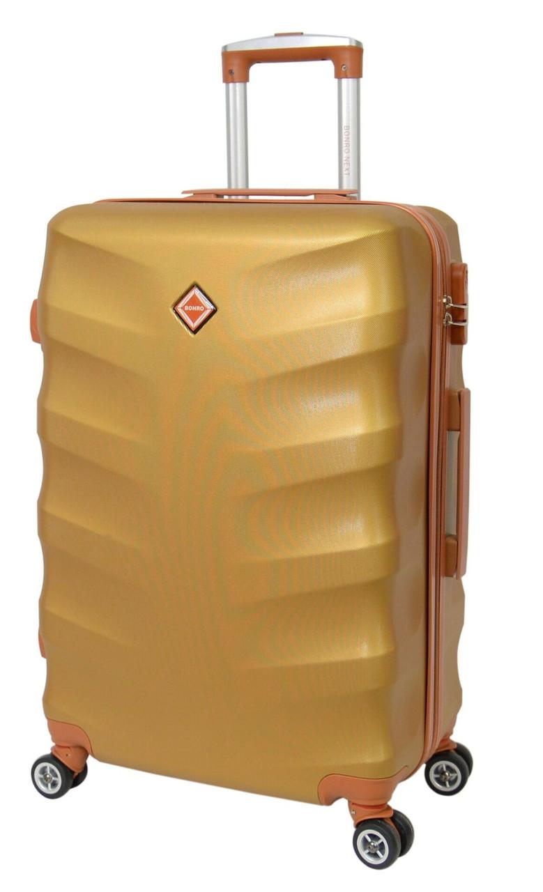 Дорожный чемодан Bonro Next (средний), золотой