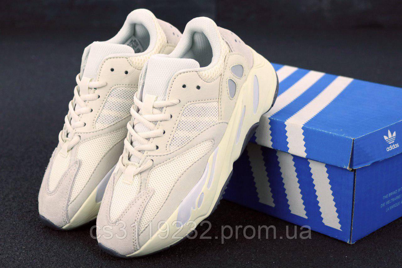 Женские кроссовки Adidas Yezzy Boost 700 Wave Runner (белые)