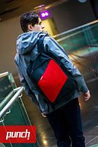 Рюкзак, PUNCH, черно-красный, спортивный рюкзак, стильный, молодежный рюкзак, фото 2