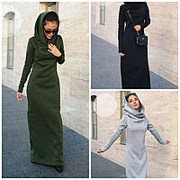 Утепленное платье макси Цвета 423 НН, фото 1