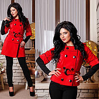 Женский Плащ трансформер куртка-плащ F 762762 Красный