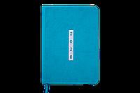 Ежедневник датированный 2020 MEANDER, A5, 336 стр., бирюзовый