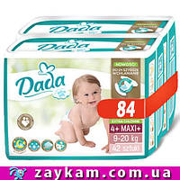 Подгузники памперсы Dada 4+ Extra Soft Mega Pack Mega Box Дада 4+ (9-20 кг) 84 шт.