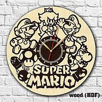 Супер Марио часы Ретро игры Материал часов дерево Часы на стену Часы для детей Бесшумные часы Часы в дом