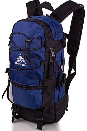 Вместительный оригинальный вело-рюкзак 15 литров ONEPOLAR (ВАНПОЛАР) W910-navy синий