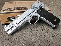 Пистолет Browning HP металлический страйкбольный (спринговый) SILVER