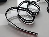Натуральне Мереживо, колір чорний 1см, фото 3