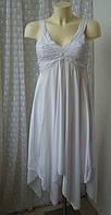 Платье женское модное сарафан летний вискоза бренд Mercanteinfiera р.40-42