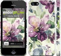 """Чехол на iPhone 5 Цветы акварелью """"2237c-18"""""""