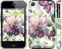 """Чехол на iPhone 3Gs Цветы акварелью """"2237c-34"""""""