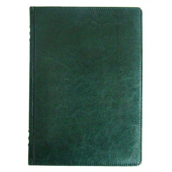 Ежедневник недатированный BRISK ЗВ-433 SARIF А5 (14,2х20,3) с французским переплетом, зеленый
