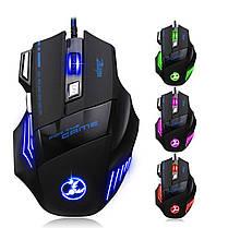 ➤Игровая Мышь ZELOTES T-80 черная LED подсветка 5500 DPI дополнительные кнопки USB 2.0 компьютерная ПК, фото 2