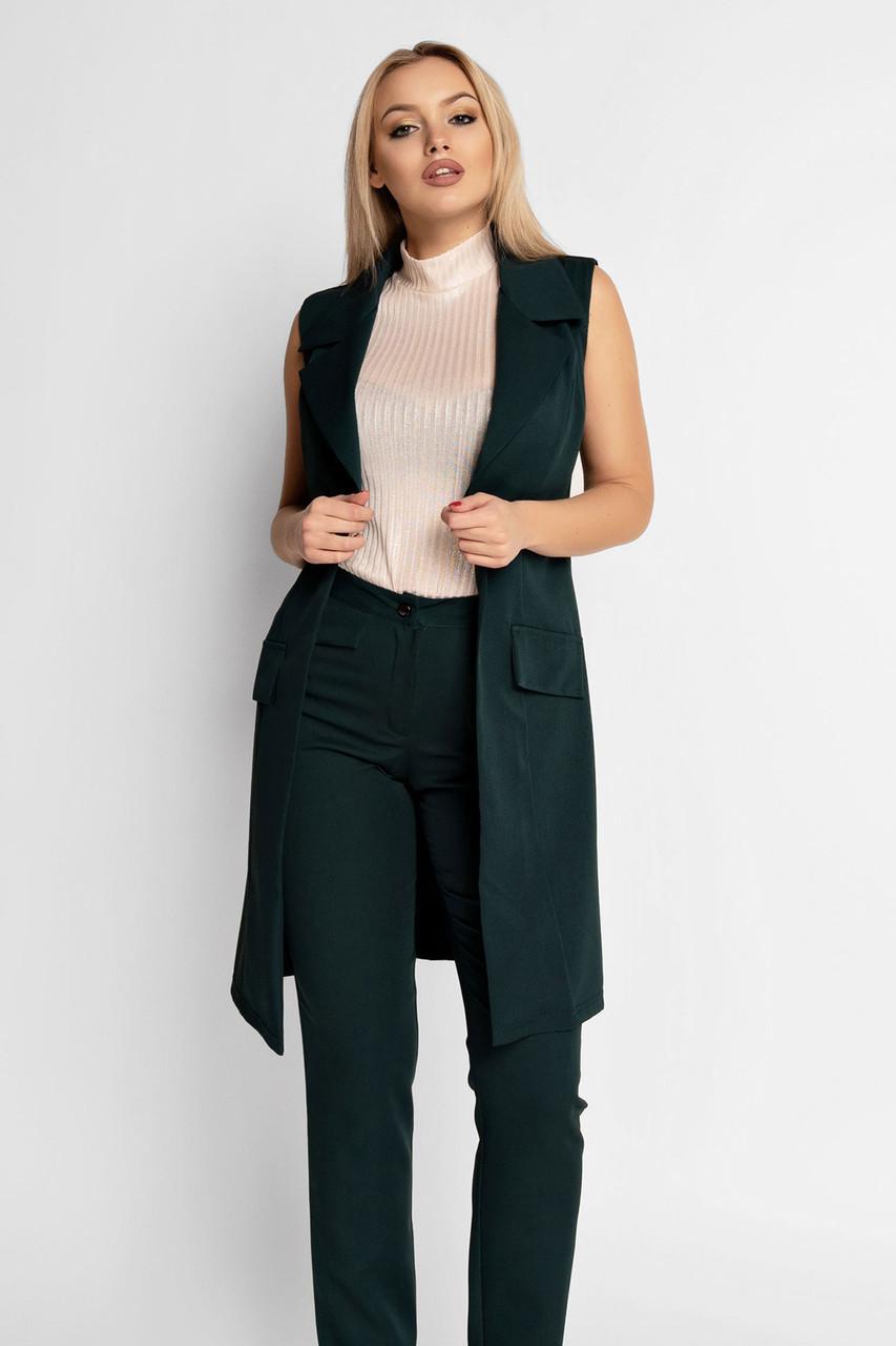 (S, M, L, XL) Жіночий зелений брючний костюм Edras