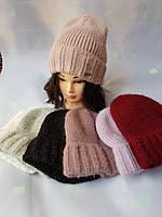 Зимние шапки на флисе ангора с люриксом