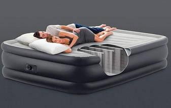 Надувная двухспальная кровать Intex 64140 (152x203x51см.) Серая, фото 2