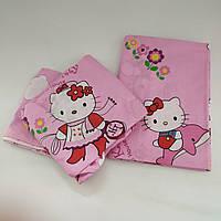 """Постельное сменное для новорожденного в кроватку """"Hello Kitty"""" (90х120, на резинке)"""