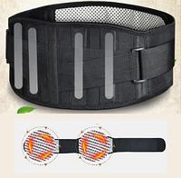Пояс турмалиновый магнитный самонагревающийся с металлическими пластинами поддержки.