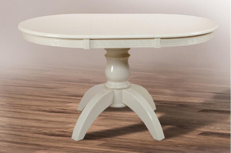 Стол обеденный раскладной Престиж d100+40 слоновая кость ТМ МиксМебель