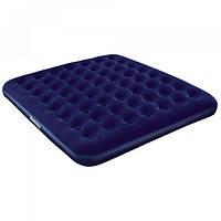 Надувний матрац велюр,синий BW67004