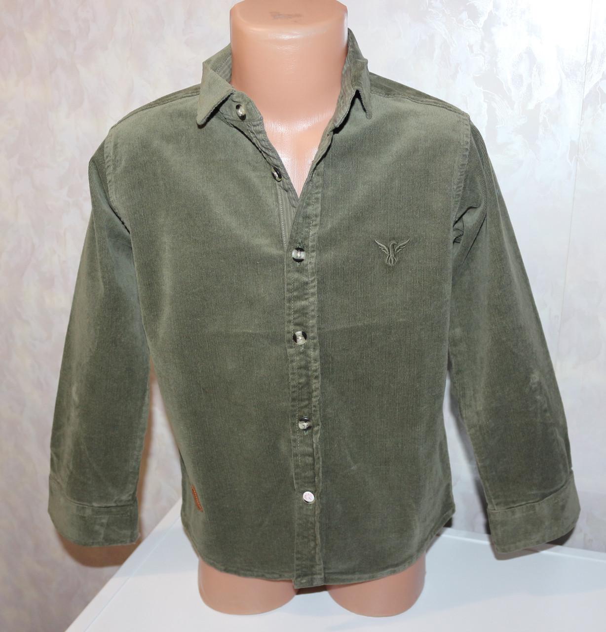 Вельветовая рубашка на мальчика 5,6,7,8,9 лет