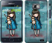 "Чехол на Samsung Galaxy S2 i9100 Девочка с зайчиком ""915c-14"""