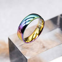 Кольцо мультицветное из медицинской стали 5 мм 172407