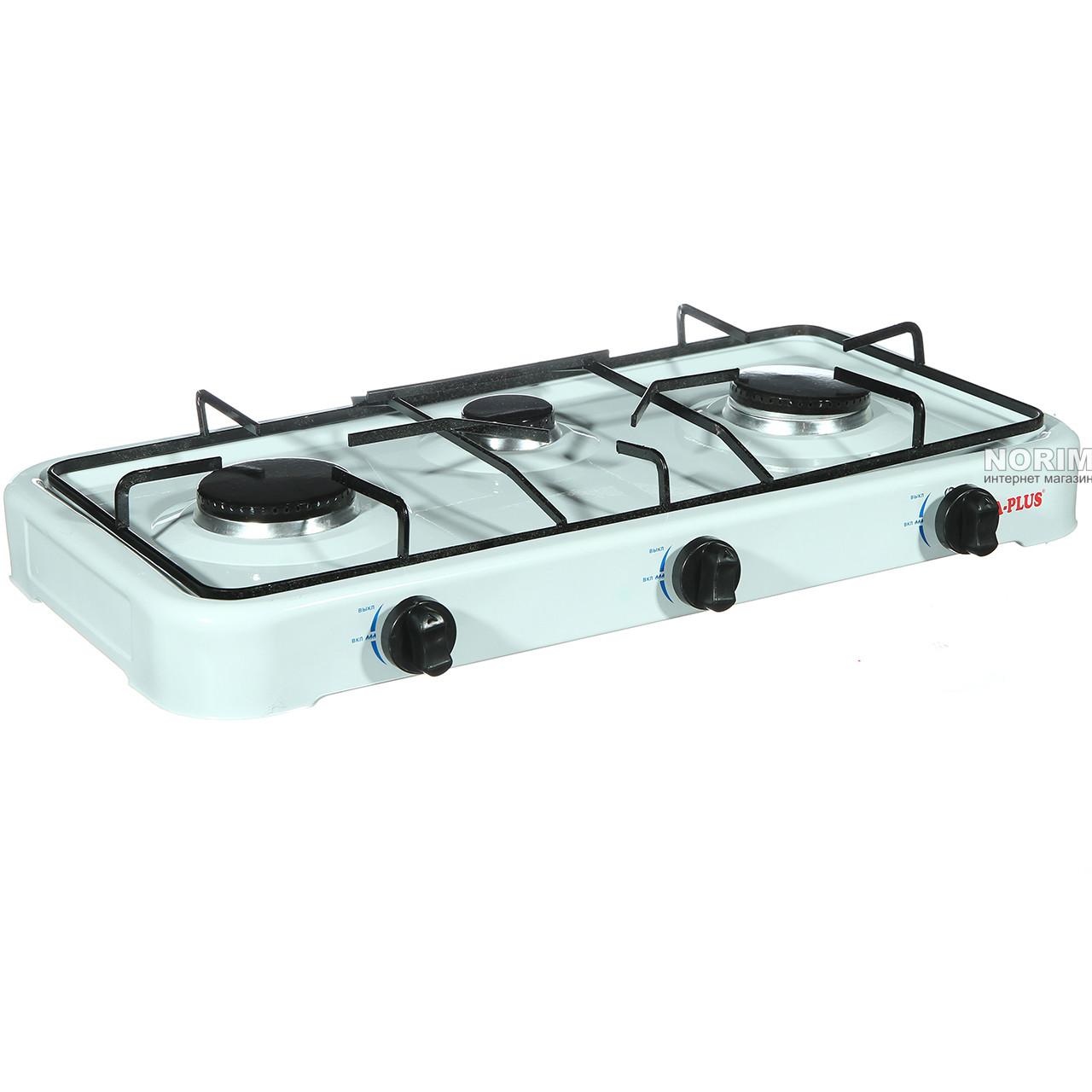 Купить Кухонные плиты бытовые, Газовая плита A-PLUS 3 конфорки (2107)