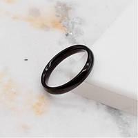 Чорне кільце для чоловіків і жінок медична сталь 3 мм 172408