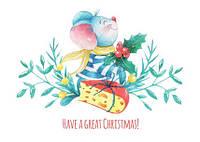 """Новогодняя открытка """"Мышонок 10"""", фото 1"""