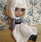 Шарнирная кукла Айси (Блайз), белый цвет волос + 10 пар кистей, одежда и обувь в подарок, фото 5