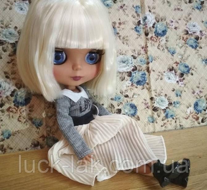 Шарнирная кукла Айси (Блайз), белый цвет волос + 10 пар кистей, одежда и обувь в подарок