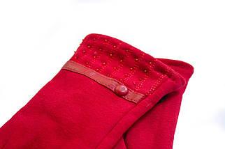 Женские стрейчевые перчатки Красные 117S1, фото 2