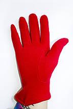 Женские стрейчевые перчатки Красные 117S1, фото 3