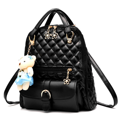 Рюкзак-сумка стьобаний чорний код: ( R505 )