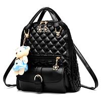 Рюкзак-сумка стьобаний чорний код: ( R505 ), фото 1