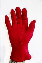 Женские стрейчевые перчатки Красные 119S2, фото 3