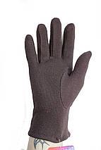 Женские стрейчевые перчатки темно-коричневые 124S1, фото 3