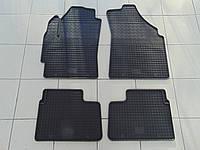 Коврики в салон резиновые для Daewoo Matiz 98-/Chery QQ 03-/Chevrolet Spark 04, Polytep, комплект 4шт