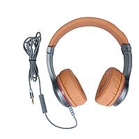 Наушники накладные Hoco W6 с микрофоном, коричневые