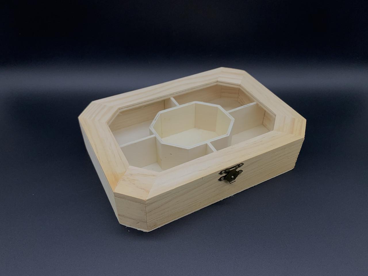 Шкатулка-органайзер для прекрас с замком и петлями. 23х16,5х5см