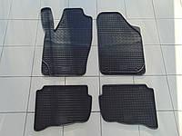 Коврики в салон резиновые для VW Polo 02-/Skoda Fabia l 00-/Fabia ll 07-/Seat Ibiza 03-, Polytep, комплект 4шт