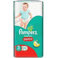 Подгузники-трусики Pampers baby-dry pants 3, 6-11кг (44шт.)