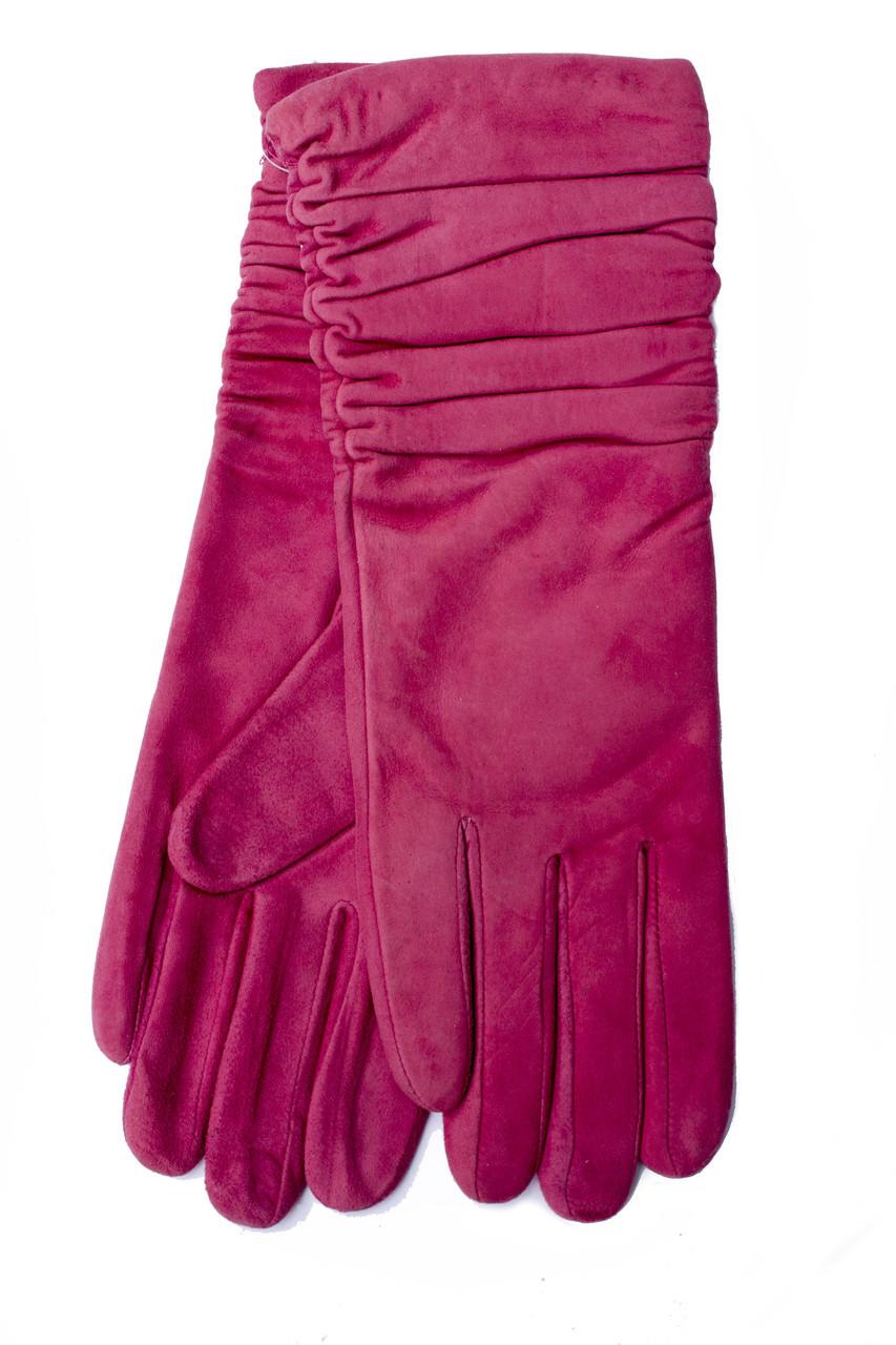 Женские удлиненные замшевые перчатки 795s1