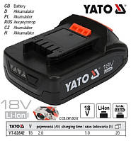 Акумулятор Li-Ion 18V 2.0 А/Год YATO Польща YT-82842