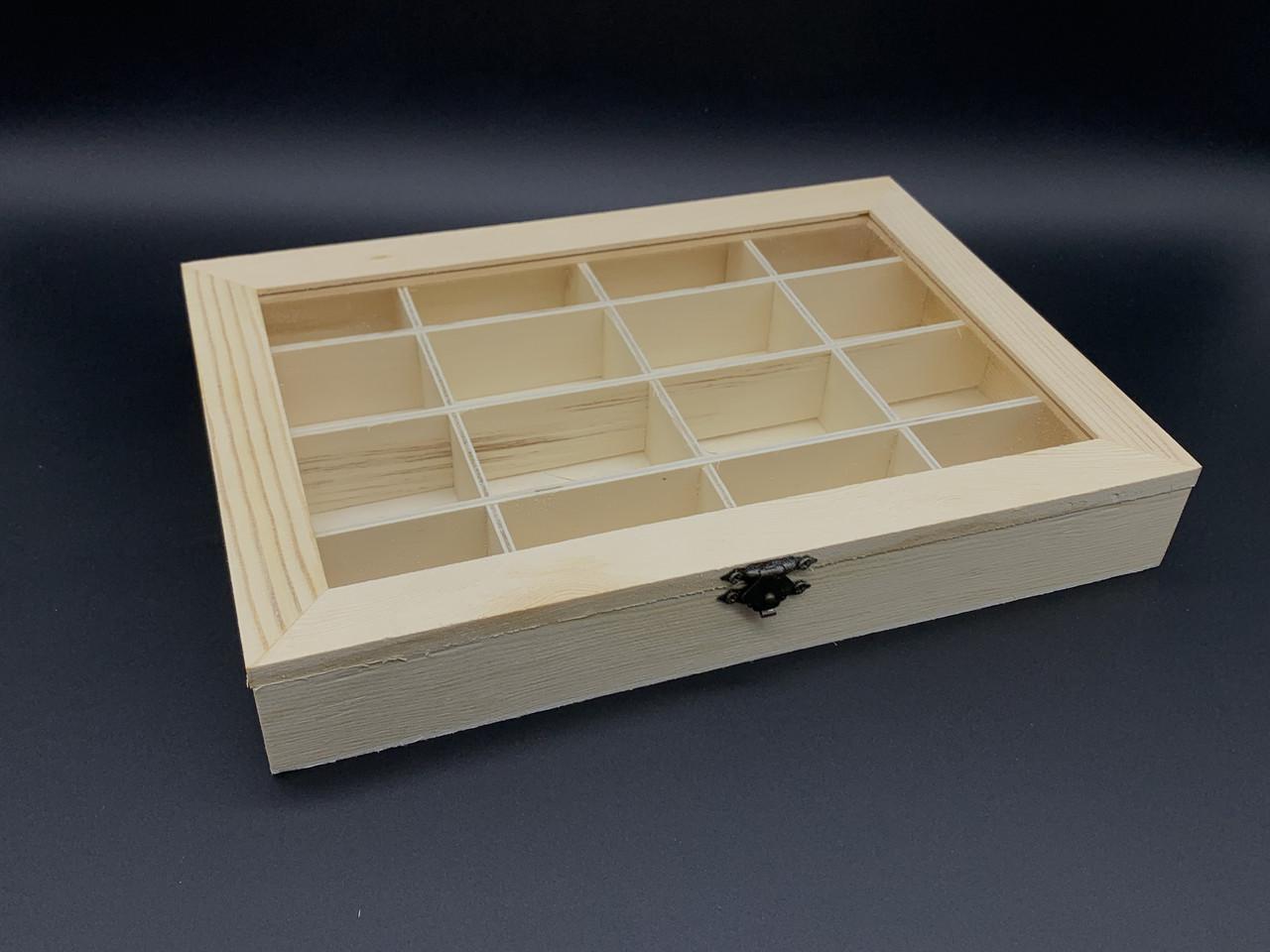 Шкатулка-органайзер для декупажа с замком и петлями. 28х20х4см