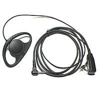 Гарнітура Motorola [1 PIN] хук V2 / Гарнитура для раций Моторола 1 пин ХУК V2