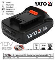 Акумулятор Li-Ion 18V 3.0 А/Год YATO Польща YT-82843