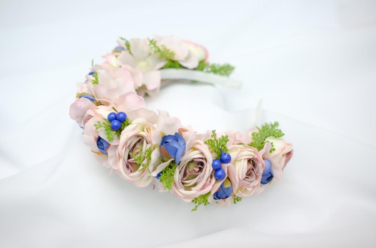 Цветочный обруч Волинські візерунки  0041