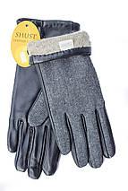 Женские комбинированные перчатки  кожа+ткань 709s2, фото 3