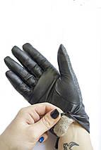 Женские комбинированные перчатки кожа+ткань 710s2, фото 3
